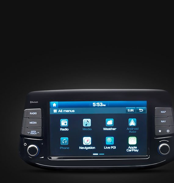Hyundai i30: Ecrã Touch-screen de 8
