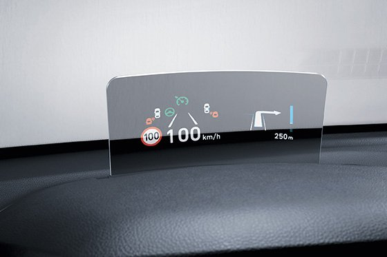 Hyundai kauai: Head-up display (HUD)