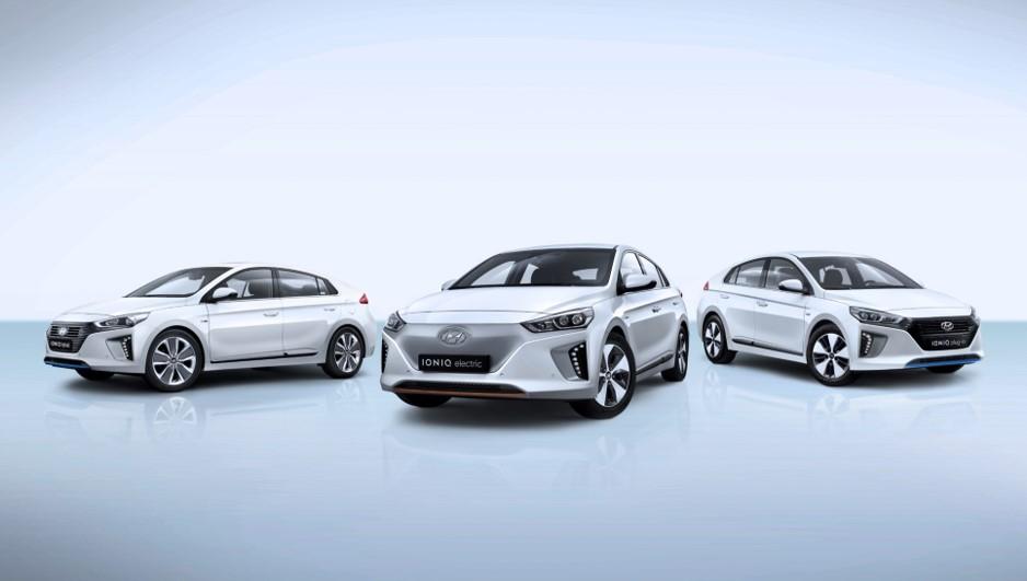 Gama Hyundai IONIQ no Salão Automóvel Híbrido e Elétrico