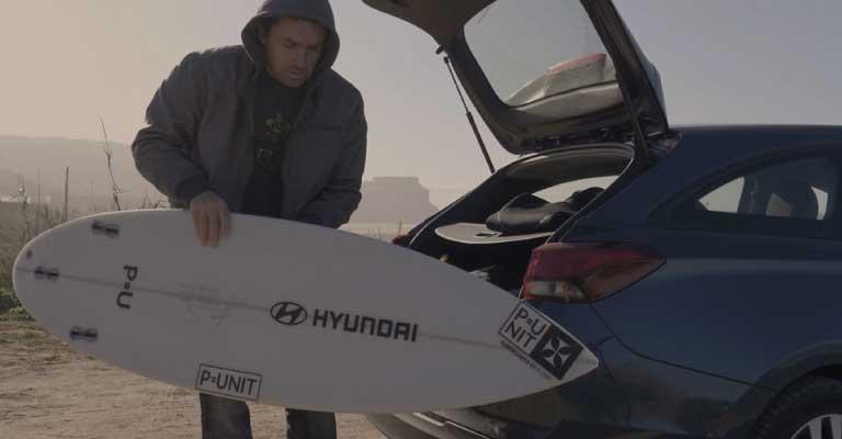 A maior onda do mundo é Hyundai