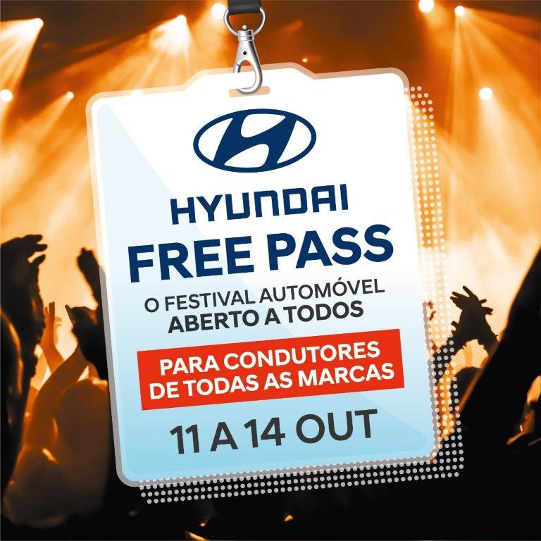 Hyundai Free Pass está de volta de 11 a 14 de outubro
