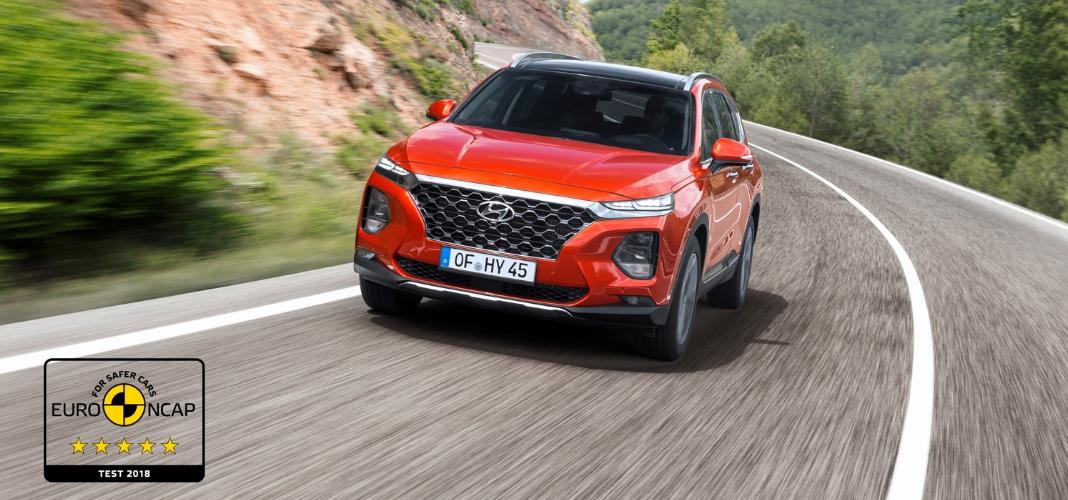 Novo Hyundai Santa Fe obtém cinco estrela