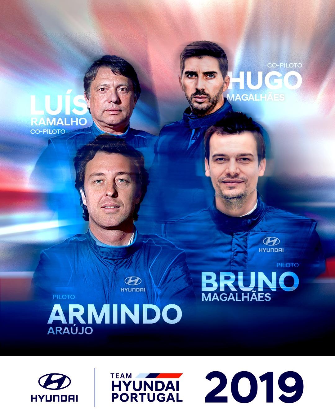 Team Hyundai Portugal com Armindo Araújo e Bruno Magalhães no CPR 2019