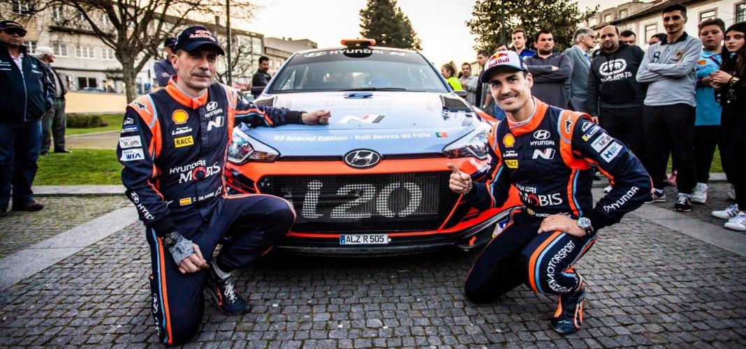 Dani Sordo e a Hyundai no Rallye Serras de Fafe