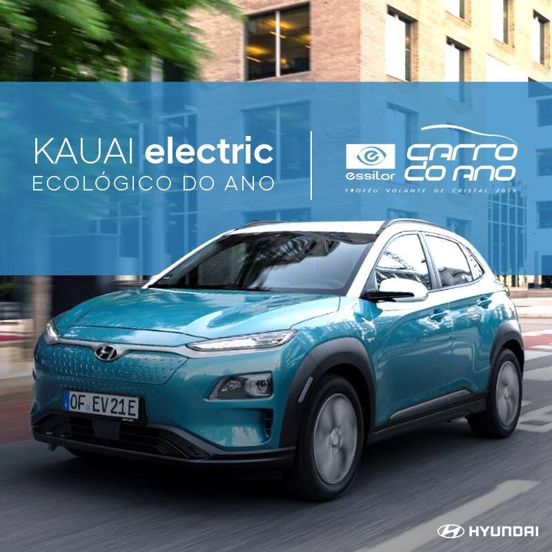 Hyundai KAUAI Electric é o Carro Ecológico do Ano 2019