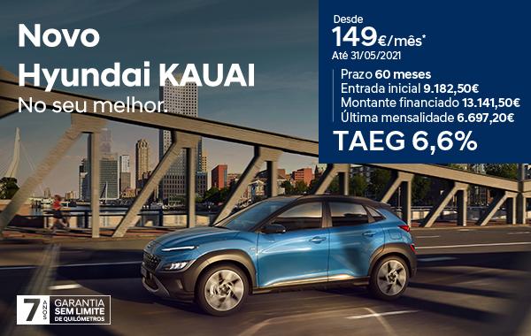 Hyundai Kauai: preço desde 149€/mês