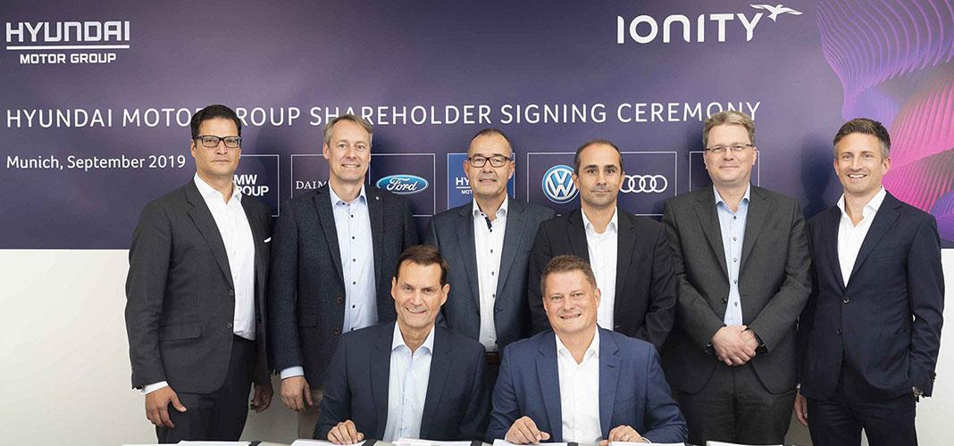 Hyundai investe na IONITY