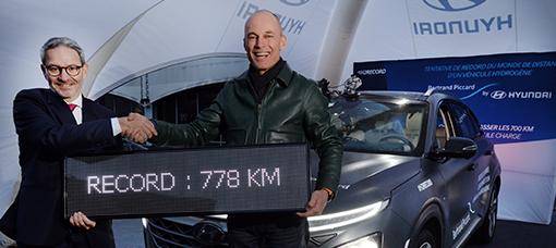 Balonista Bertrand Piccard bate recorde com Hyundai NEXO