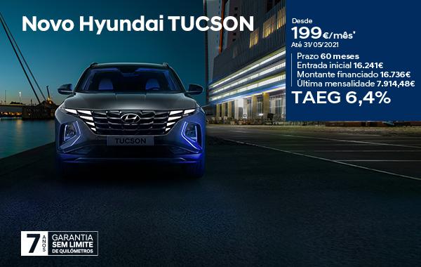 Novo Hyundai Tucson: preço desde 199€/mês
