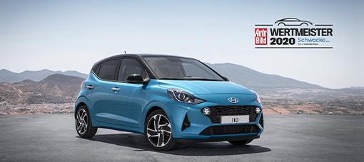"""O Novo Hyundai i10 é nomeado """"Value Champion 2020"""" pela Auto Bild e Schwacke"""