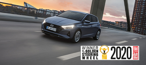 Novo Hyundai i20 conquista o prémio Golden Steering Wheel