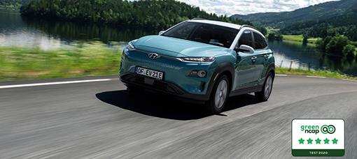 Hyundai Kauai Electric premiado com cinco estrelas pela Green NCAP