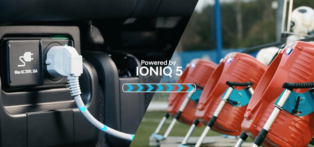 Hyundai Ioniq treina com Atlético de Madrid