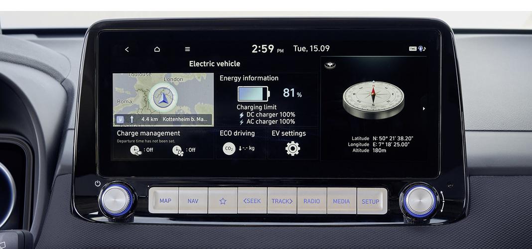 Interior Novo Hyundai Kauai EV